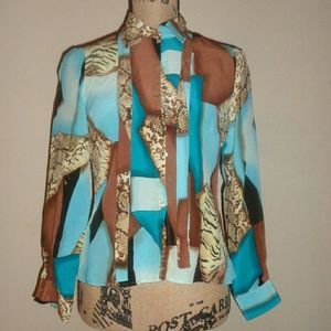 Multi-colored Worthington blouse